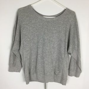 Juicy Couture womens gray laced back sweatshirt